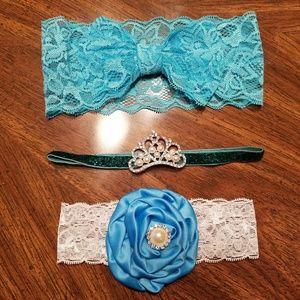 Blue/Green Baby Headband Lot